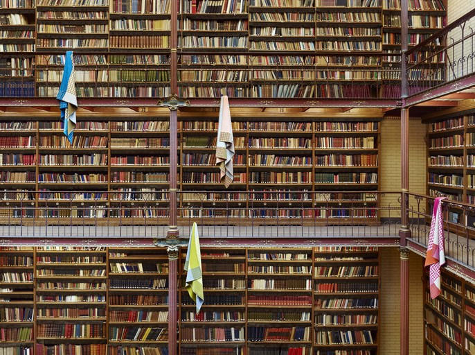 Le Monde d'Hermès 70 / Around the World / The Ideal Library  - Shot @ Library Rijksmuseum Amsterdam / Art Director: Benjamin Grillon / Production: JN Production / in collaboration with Bird Production