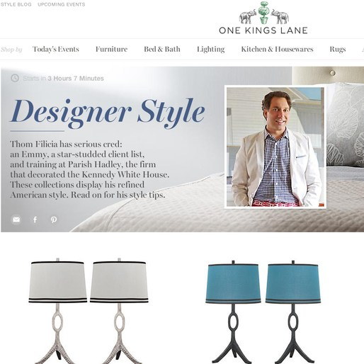 thom filicia news thom filicia designer style sale on one kings lane. Black Bedroom Furniture Sets. Home Design Ideas