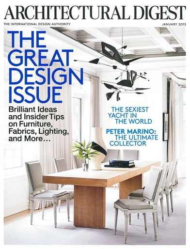 Architectural Digest January 2015 -