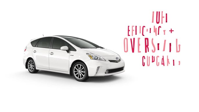 Toyota - Prius Oversized Cupcakes - Agency: Saatchi and Saatchi Client: Toyota  Stop motion journey involving the construction of a small paper town and giant cupcakes to illustrate the fuel efficiency and large cargo capacity of the new Toyota PriusV.