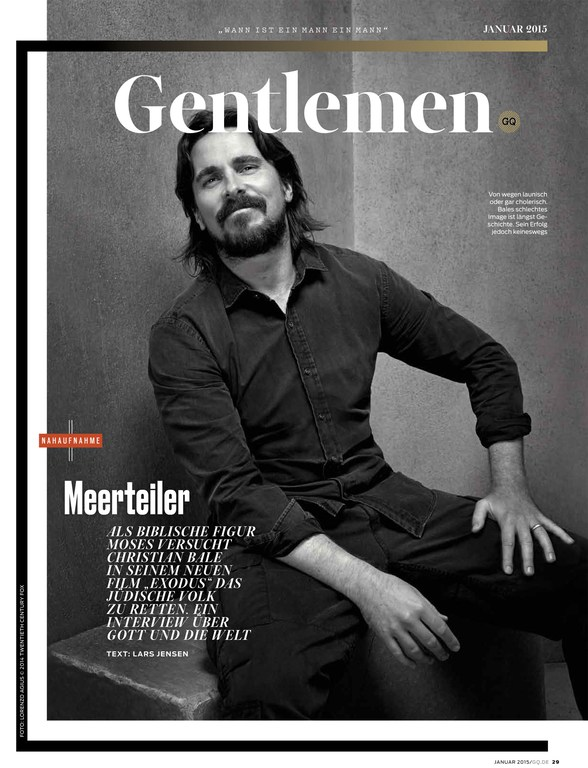 Excellent Lorenzo Agius U Justin Allen For Gq Germany With Christian Bale  With Mia And Me Mo Figur.