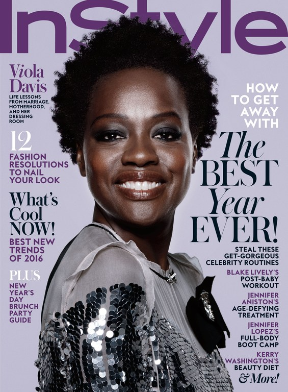 Streeters - News - InStyle January 2016 - Cover Story: Viola Davis
