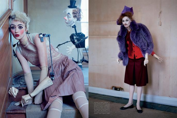 2011, Audrey Marnay, dolls, Kirsi Pyrhonen, Models, Photographers, Photographers, Tim Walker, Vogue Italia, Vogue Italia, October