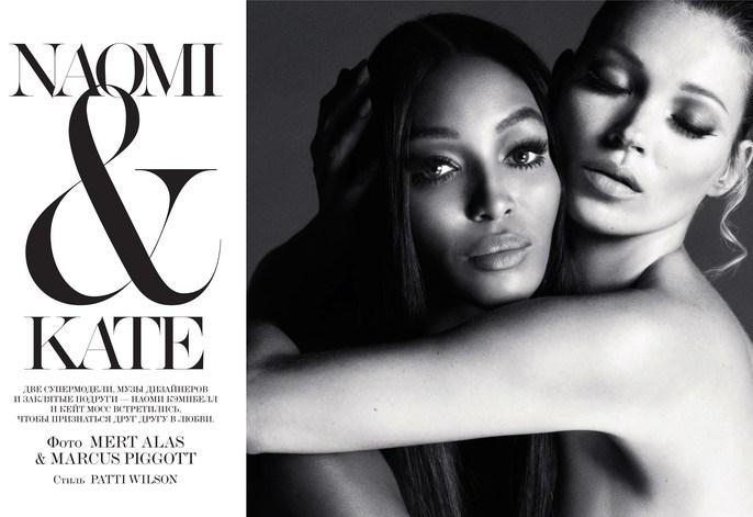 2012, Interview Russia, Kate Moss, Models, Models, Naomi Campbell, Photographers, Photographers, Mert Alas & Marcus Piggott