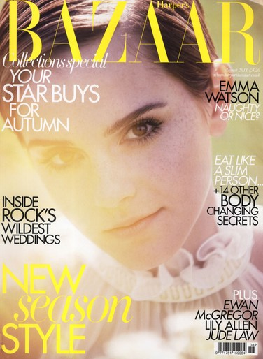 2011, celeb, Celebrities, Celebrities, Emma Watson, cover, emma watson, Harper's Bazaar UK, Photographers, Photographers, Alexi Lubomirski