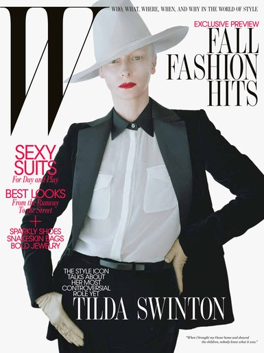 2011, actress, celeb, cover, Photographers, Photographers, Tim Walker, tilda swinton, W Magazine, W Magazine, August