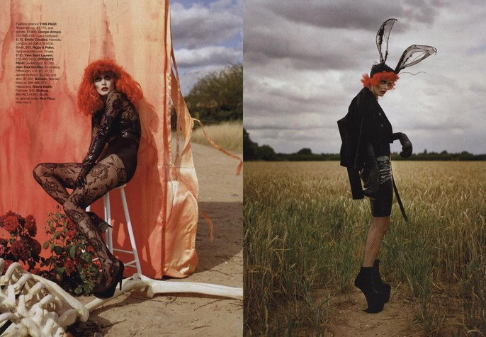 2009, celeb, Harper's Bazaar, helena bonham carter, Models, Models, Malgosia Bella, Photographers, Photographers, Tim Walker, tim burton