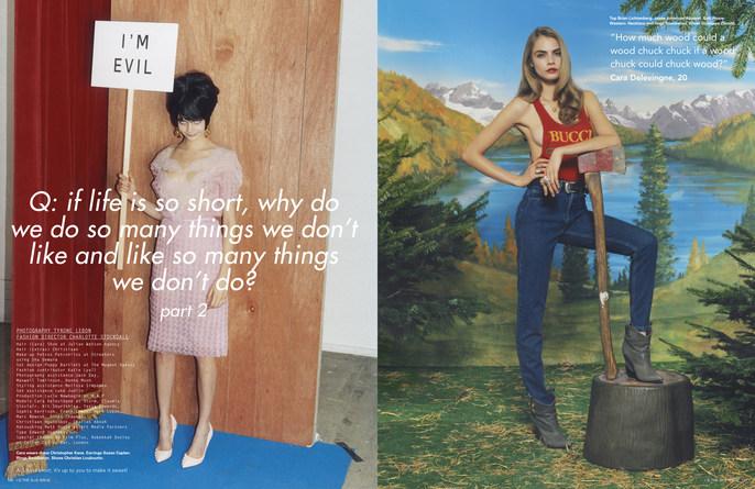 2013, Cara Delevingne, i-D Magazine, Models, Photographers, Photographers, Tyrone Lebon