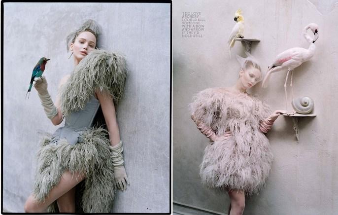 2012, celeb, Celebrities, Celebrities, Jennifer Lawrence, jennifer lawrence, Photographers, Photographers, Tim Walker, W Magazine, W Magazine, October