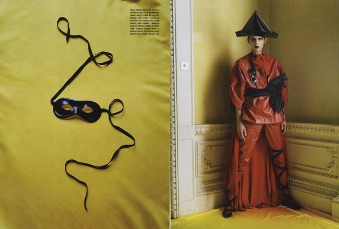 2011, harlequin, mask, Models, Models, Stella Tennant, Photographers, Photographers, Tim Walker, Vogue Italia, Vogue Italia, May