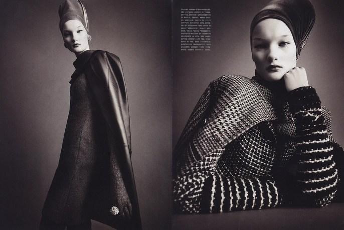 2010, bw, Kirsi Pyrhonen, Models, Photographers, Photographers, Paolo Roversi, Vogue Italia, Vogue Italia, July