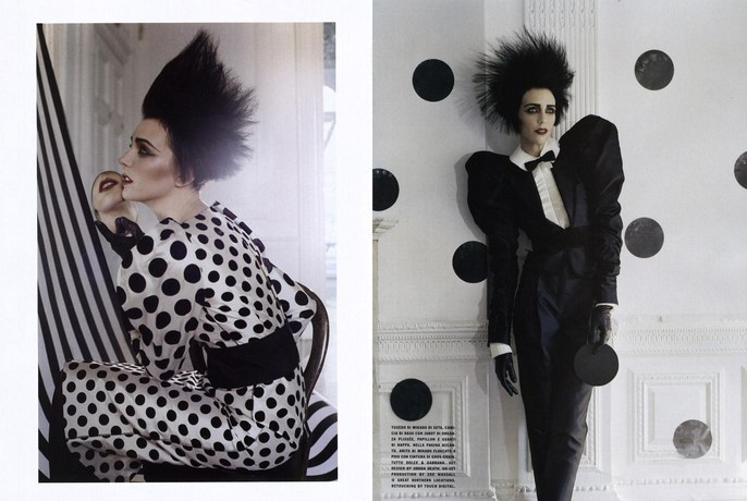 2009, dots, Hannelore Knuts, Models, Photographers, Photographers, Tim Walker, Vogue Italia, Vogue Italia, September