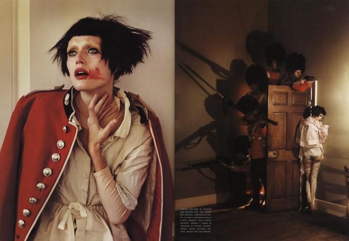 2009, guards, Models, Models, Malgosia Bella, Photographers, Photographers, Tim Walker, soldiers, Vogue Italia, Vogue Italia, June