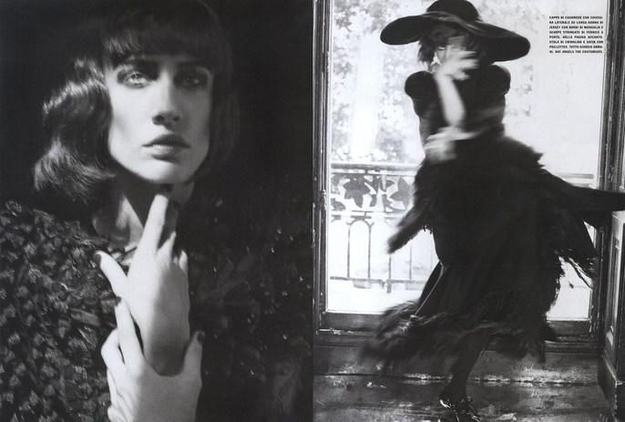 2008, bw, Models, Models, Natasa Vojnovic, Photographers, Photographers, Solve Sundsbo, Vogue Italia, Vogue Italia, October, widow