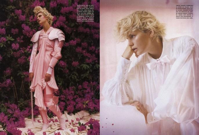 2007, flowers, Models, Models, Stella Tennant, Photographers, Photographers, Tim Walker, tree, Vogue Italia, Vogue Italia, August