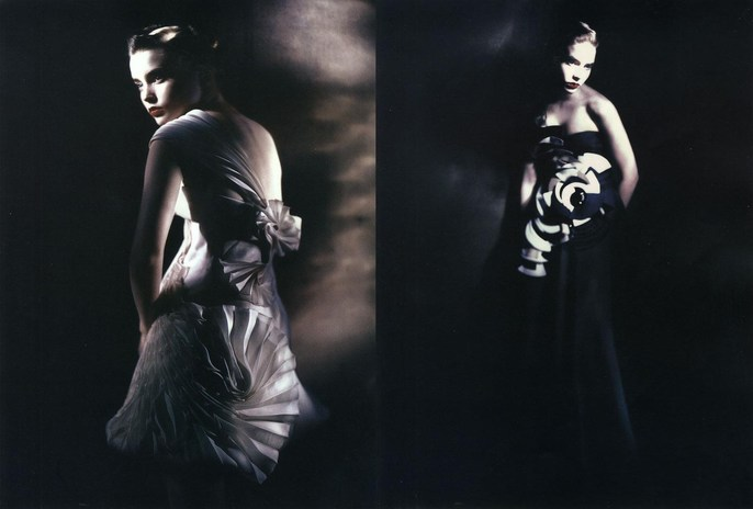 2008, advertorial, Armani Prive, Photographers, Photographers, Paolo Roversi, supplement, Vogue Italia, Vogue Italia, March