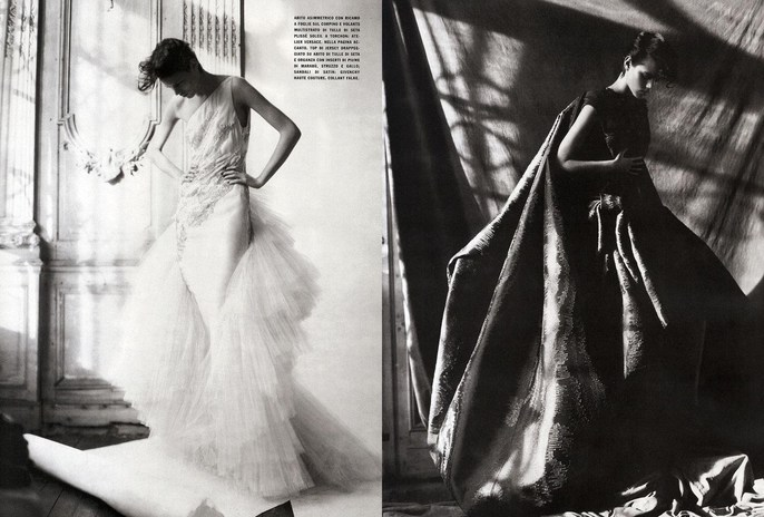 2008, Freja Beha Erichsen, Models, Photographers, Photographers, Paolo Roversi, supplement, Vogue Italia, Vogue Italia, March