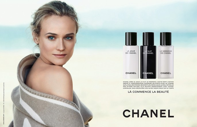 ad, ADVERTISING, beauty, Chanel, Diane Kruger, Peter Lindbergh, source: chanel