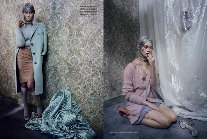 2013, Models, Ondria Hardin, Photographers, Paolo Roversi, Vogue Italia, september
