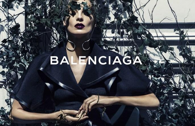 ADVERTISING, Balenciaga, Daria Werbowy, Photographers, Steven Klein, ad, Spring / Summer, 2014, ss14, source: balenciaga