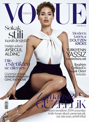 Angelo Seminara, cover, Doutzen Kroes, March 20141, Vogue Turkey
