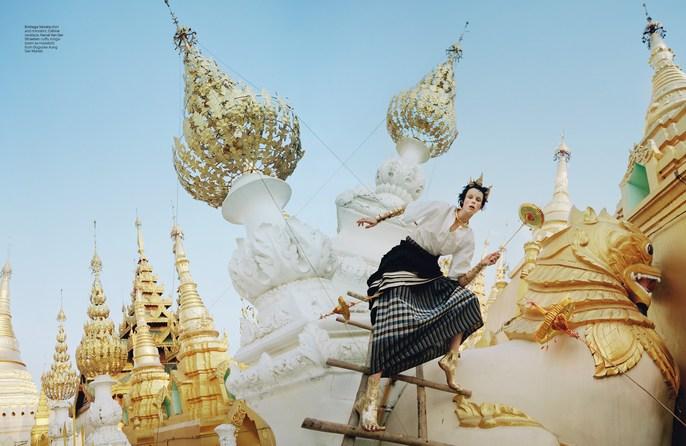 W Magazine, Jacob K, edie campbell, Photographers, Tim Walker, tim walker, source: w magazine, may 2014, Burma