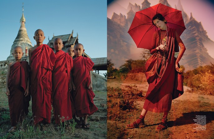 W Magazine, Jacob K, edie campbell, Photographers, Tim Walker, tim walker, may 2014, Burma