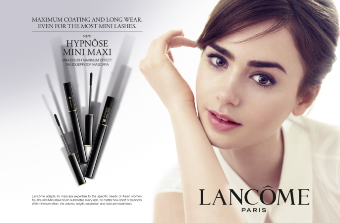 2014, ADVERTISING, autumn/winter, Lancome, lily collins