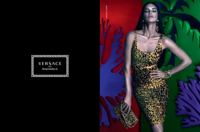 makeup, models, adriana lima, Patti Wilson, Sammy Mourabit, source: Versace X Riachuelo, styling, Versace X Riachuelo
