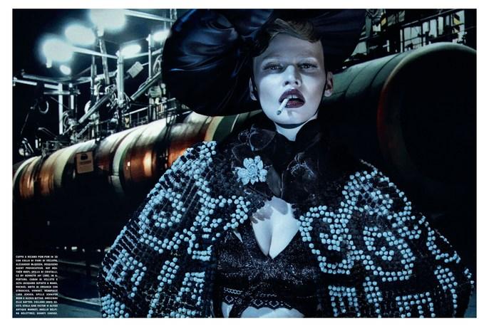 makeup, Patti Wilson, Photographers, Sammy Mourabit, source: vogue italia, Steven Klein, styling