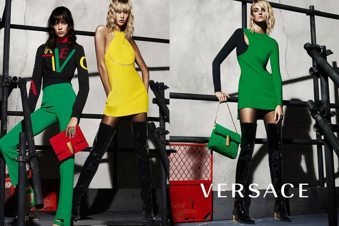 Versace, Karlie Kloss, lucia pieroni, makeup, source: versace