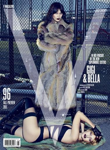 V Magazine, Editorial, Patti Wilson, set design, styling, source: v magazine, Gigi Hadid, Bella Hadid, Steven Klein, Andrea Stanley
