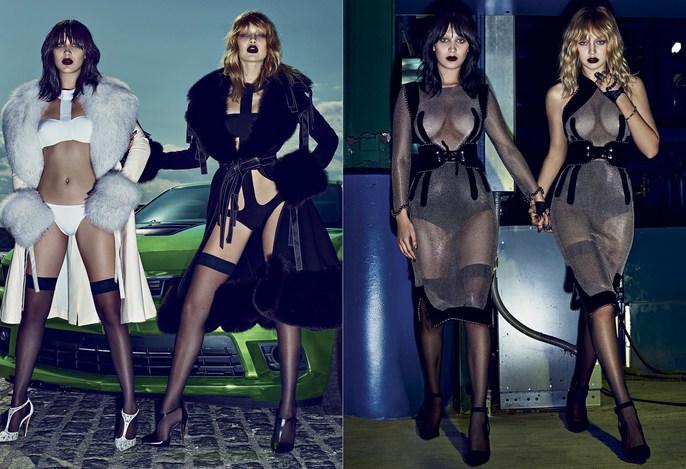 V Magazine, Editorial, Steven Klein, Patti Wilson, set design, styling, source: v magazine, Gigi Hadid, Andrea Stanley, Bella Hadid