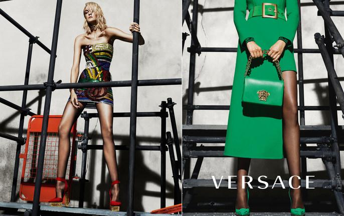 Jacob K, Versace, lucia pieroni, Mert Alas & Marcus Piggott, Andrea Stanley, AW15, AW 15, source: Versace FW15