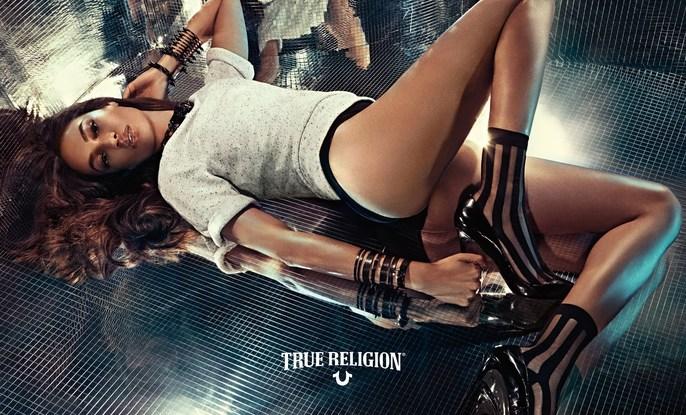 Joan Smalls, Patti Wilson, styling, source: True Religion, True Religion