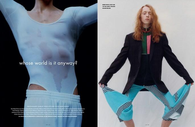 i-D Magazine, Petros Petrohilos, makeup, Harley Weir
