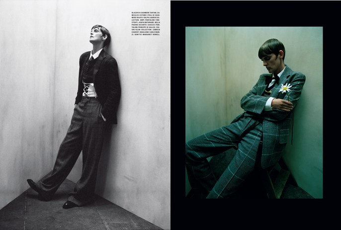 Jacob K, Miranda Joyce, Vogue Italia, styling, tim walker, makeup, July 2016