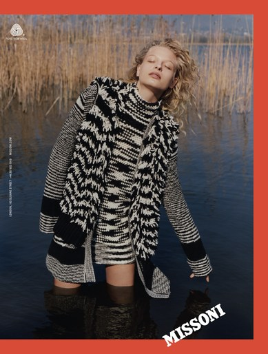 Petros Petrohilos, Vanessa Reid, hair, Tina Outen, styling, makeup, source: missoni