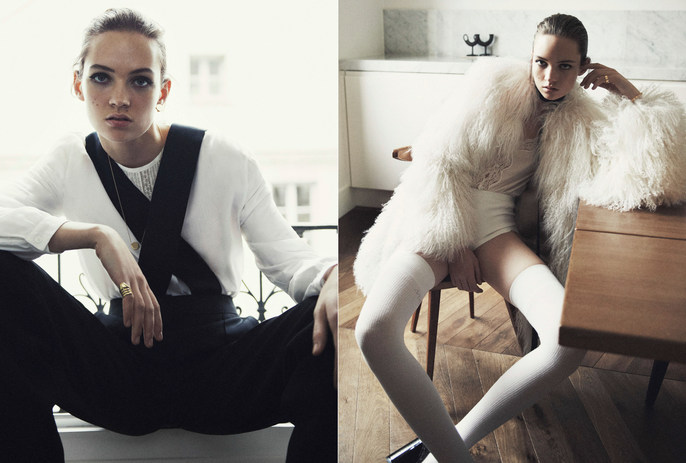 Petros Petrohilos, Vogue Paris, makeup, Adrienne Jüliger, Claudia Knoepfe