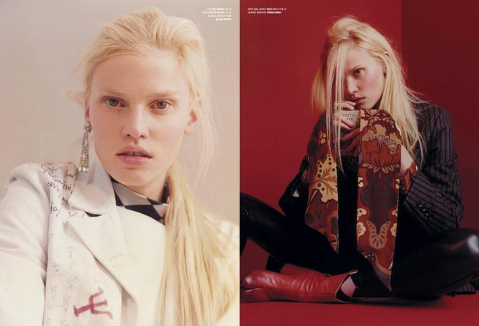 Petros Petrohilos, Lara Stone, V Magazine, David White, Tina Outen, Harley Weir, Summer 2015