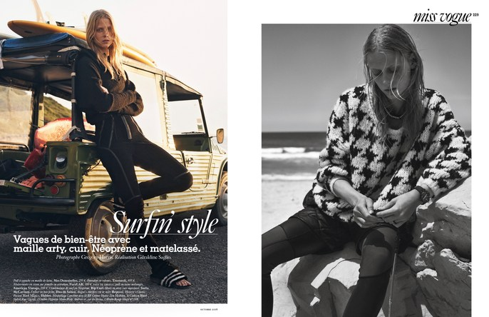 Petros Petrohilos, Vogue Paris, Gregory Harris, sofie hemmet, October 2016