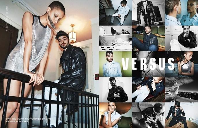 Zayn Malik, Patti Wilson, Adwoa Aboah, Gigi Hadid, Advertising, Versus Versace, source: versus versace