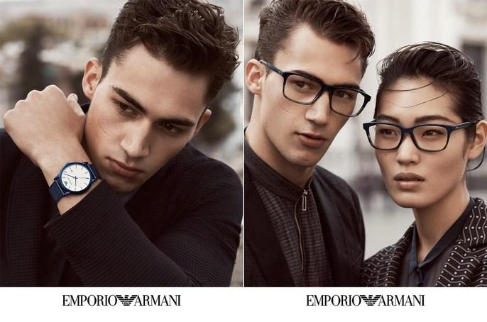 Emporio Armani, Petros Petrohilos, Lachlan Bailey, eyewear, SS17