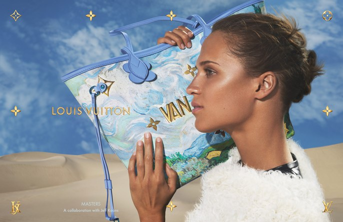 Louis Vuitton, Alicia Vikander, set design, Jeff Koons, Mert and Marcus, gerard santos
