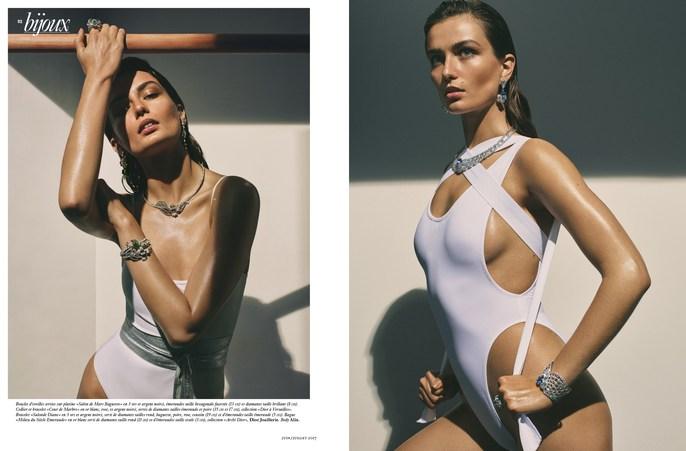 Petros Petrohilos, Andreea Diaconu, Vogue Paris, makeup, Greg Harris