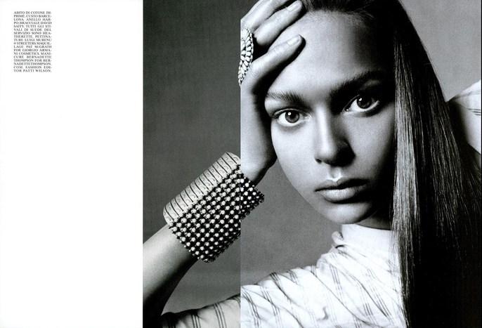 steven meisel, Patti Wilson, Vogue Italia, source: vogue italia