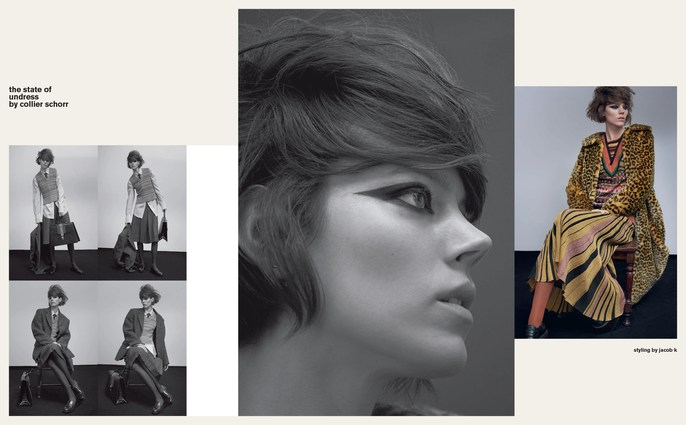 Jacob K, Vogue Italia, styling, Models, Freja Beha Erichsen, Collier Schorr