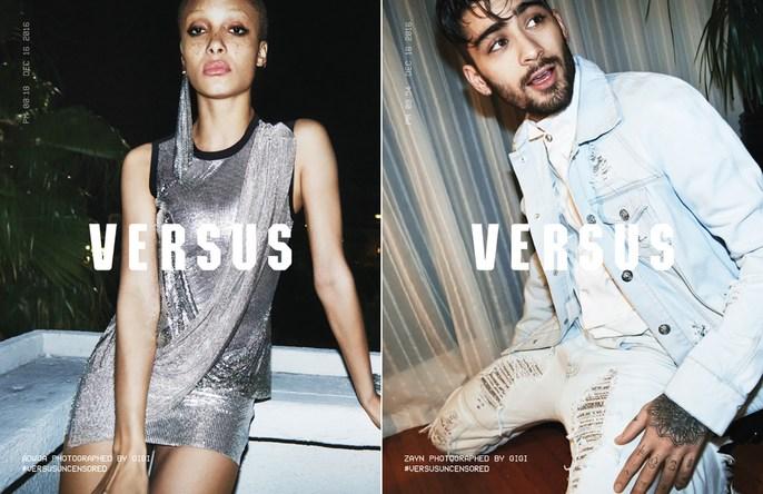 ADVERTISING, Zayn Malik, Patti Wilson, Adwoa Aboah, Gigi Hadid, Versus Versace, source: versus versace