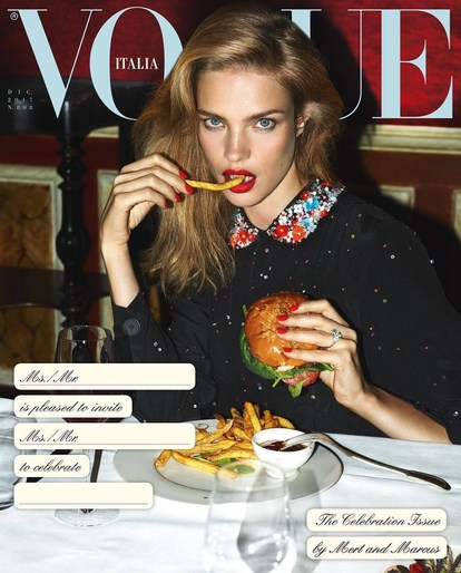 Editorial, Patti Wilson, Vogue Italia, source: vogue italia, Magazine Cover, Mert and Marcus