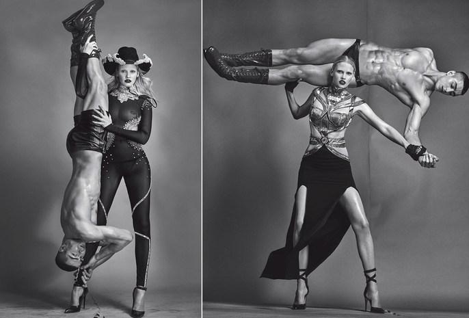 Lara Stone, Vogue Italia, Editorial, Steven Klein, Patti Wilson, source: vogue italia, Andrea Stanley, Magazine Cover